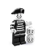 lego minifigures series mime ever been